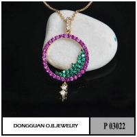 China P3022 Ruby And Spinel Diamond Stone Pendant Jewelry on sale