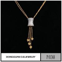 China P1368 Two Tone Color Funny Necklace Fake Diamond Pendant on sale
