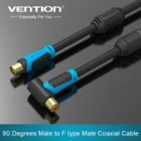 Best Vention 90 Degrees Male to F type Male Coaxial TV Satellite Antenna Cable wholesale