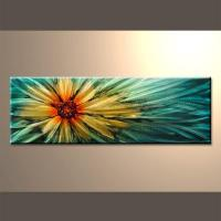 Quality Modern Contemporary Floral Metal Wall Art Dcor Set for sale