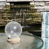 China Crackled Glass Solar Chameleon Gazing Ball with Table Top Base 3568MRM1 on sale