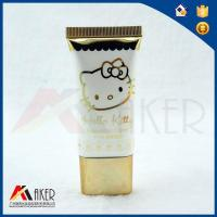 Buy cheap 30ml Glossy Varnish Hello Kitty Gold Hot Stamping Cosmetic Tubes With Golden Plating Screw Lid from wholesalers