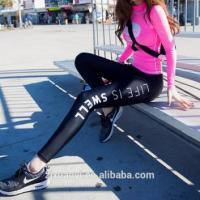China Fashion Hot Sale Women Sexy Tight Printed Leggings Jogger Pants Sportswear Workout Leggings on sale