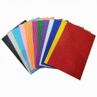 Buy cheap Stationery and Back to School items Golden and Silvery Metallic Coating EVA foam from wholesalers