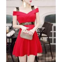 Buy cheap Strapless spring and summer slim fashion Korean style dress from wholesalers
