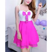 Buy cheap Big skirt navy style sling slim pinched waist dress from wholesalers