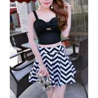 Buy cheap Slim fashion ladies low-cut small skirt short skirt a set from wholesalers