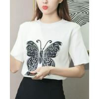 Buy cheap Personality printing T-shirt butterfly sweater from wholesalers