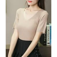 Buy cheap Slim V-neck thin summer sweater from wholesalers