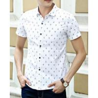 Buy cheap Floral short sleeve printing slim shirt for men from wholesalers