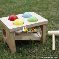 Best Most popular preschool pound bench wooden educational toys for babies W11G031 wholesale