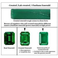 China Semi Precious Gems Created Emerald on sale