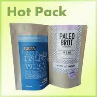 Best Microwave Safe Snack Packaging Pouch Bags Plastic / Craft Kraft Paper Self Adhesive wholesale