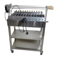 Quality Brazilian Churrasco Charcoal Stainless steel BBQ Spit Roaster Welding Technology for sale