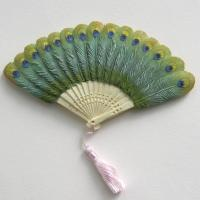 Quality PKB-PEA - Peacock Feather Fan for sale