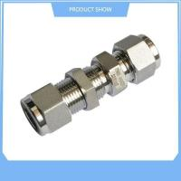 Quality Stainless Steel Ferrule Straight Bulkhead Union for sale