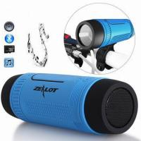 China Zealot S1 Outdoor Waterproof Bluetooth Speaker with Subwoofer Stereo Sound and LED Flashlight on sale