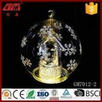 Best Christmas lighted blown LED glass ball crafts for home decoration wholesale