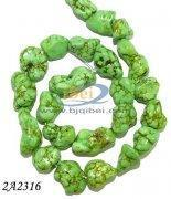 China Loose Gemstones 15inch 15x20mm green turquoise nugget loose strands on sale