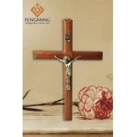 Quality wooden crosses for sale Crucifix on wood cross for wall hanging for sale