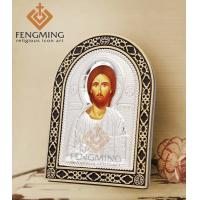 Quality Russian orthodox silver byzantine icons of jesus christ religious items for sale