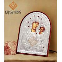 Quality icons of the virgin mary Charming russian orthodox church silver icon of virgin mary and jesus child for sale