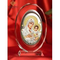 Quality religious icons for sale Soild Crystal Glass Religious Art mary of jerusalem for sale