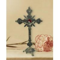 Buy cheap Jesus Christ on Cross Bronze Tone Standing Crucifix with Base from wholesalers