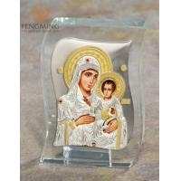 Buy cheap Crystal silver Ornaments mother mary of Jerusalem Christian icon from wholesalers