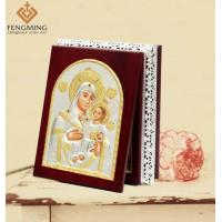 China Christian Arts Byzantine Church Supply Catholic Baptism Gifts Religious Silver Icon Wood Boxes on sale
