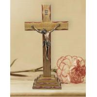 Buy cheap Jesus on Wood Cross Standing Crucifix Catholic from wholesalers