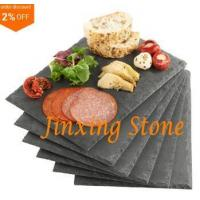 Quality Black Slate Cheese Tray Wine Party Biscuit Serving Board Natural Stone Dinner Tablemat for sale