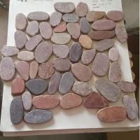 Buy cheap SMC-FP123 Red sliced pebble mats from wholesalers
