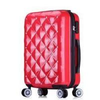 Best ABS PC diamond travel trolley custom made cheap luggage bags wholesale
