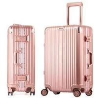 Best love-follow 2016 new desgin ABS PC aluminum frame trolley luggage suitcase wholesale