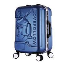 Quality Custom fancy abs printed hard shell luggage for sale