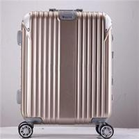 Quality love-follow 2016 new desgin ABS PC aluminum frame trolley luggage suitcase for sale