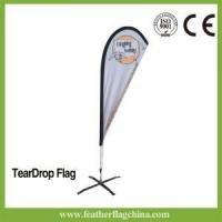 Buy cheap Teardrop Flag 8ft 2.4m Outdoor Flying Banner Flags from wholesalers