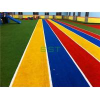 Best Artificial Grass For Playground Soft Fell Colourful Artificial Grass For Kindergarten wholesale