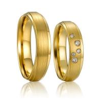 Quality Wholesale Custom Made Mens Gold 316L Stainless Steel Engagement Rings with CZ for sale