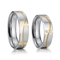 Buy cheap Unique Design Cheap Wholesale CZ Stone Custom Magnetic 316L Stainless Steel Wedding Rings from wholesalers