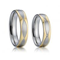 Buy cheap 316L Stainless Steel Hot Sell Fashion Rings for Men Woman Couple Wedding Band Rings Gold from wholesalers