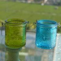 Buy cheap Color transparent hanging glass candle holder from wholesalers