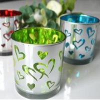 Buy cheap The golden ball fragments of glass candlestick The laser engraving from wholesalers