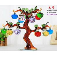 China colorful crystal apple tree for wedding decoration on sale