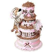 Best Diaper Cake Ideas Baby Girl Leopard Diaper Cake wholesale