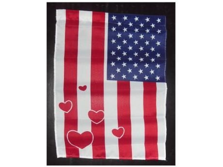 """Buy 12""""X18"""" AMERICAN GARDEN FLAG at wholesale prices"""