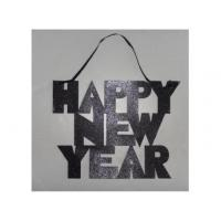 "Buy cheap GLITTER HAPPY NEW YEAR"" SIGN WITH RIBBON HANGER from wholesalers"