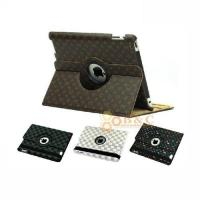 Best iPad234 360℃ Rotatable Leather Cover - LV diamond texture wholesale