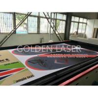 Quality Printed Banners Flags Laser Cutting Machine for sale
